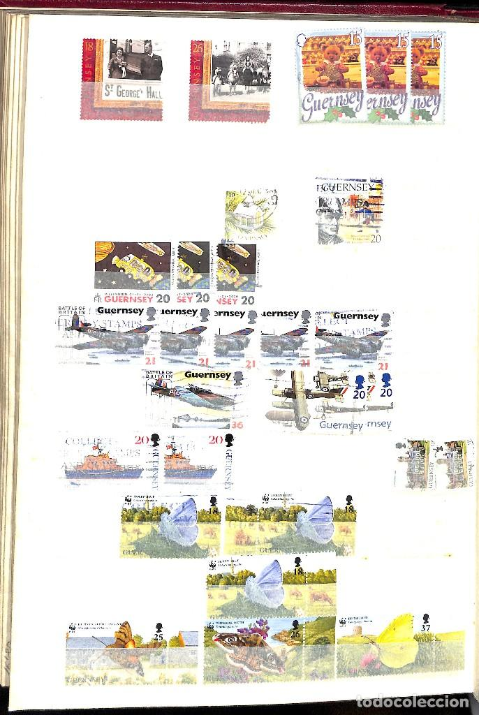 Sellos: GUERNESEY, 1969-2000 LOTE DE SELLOS Y HOJAS BLOQUE EN NUEVO Y USADO, - Foto 33 - 128746875