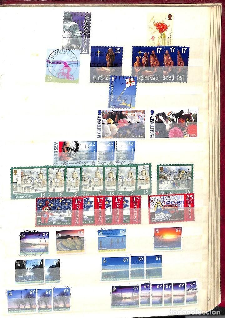Sellos: GUERNESEY, 1969-2000 LOTE DE SELLOS Y HOJAS BLOQUE EN NUEVO Y USADO, - Foto 34 - 128746875