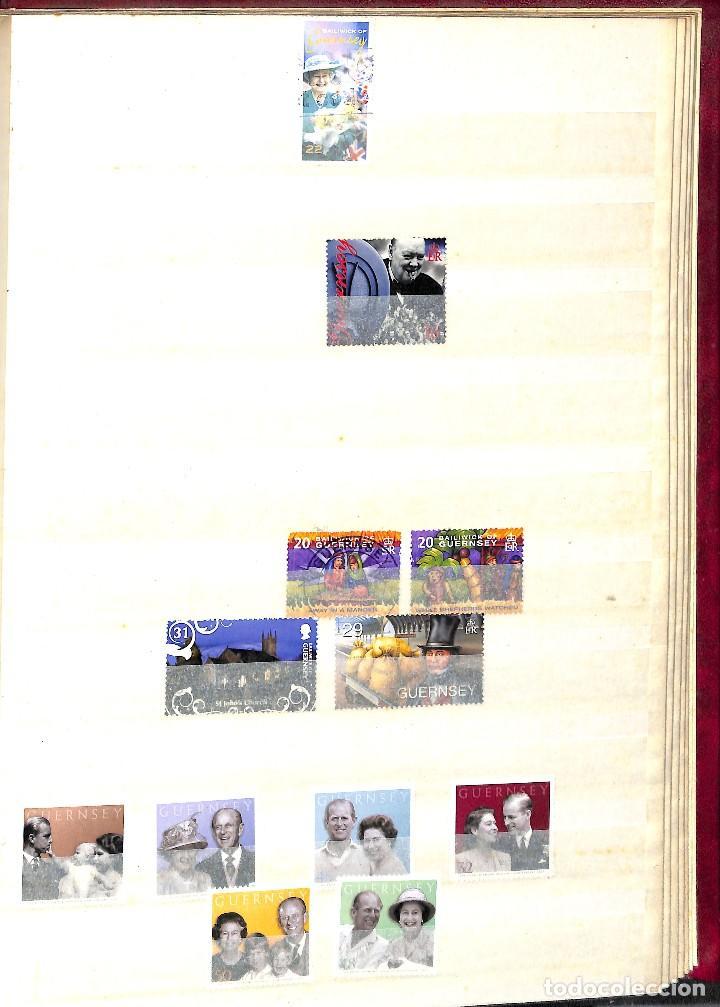 Sellos: GUERNESEY, 1969-2000 LOTE DE SELLOS Y HOJAS BLOQUE EN NUEVO Y USADO, - Foto 38 - 128746875