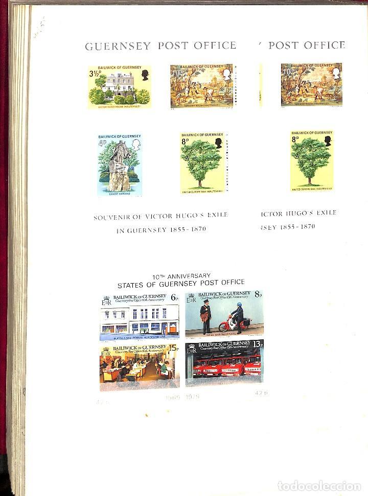 Sellos: GUERNESEY, 1969-2000 LOTE DE SELLOS Y HOJAS BLOQUE EN NUEVO Y USADO, - Foto 41 - 128746875