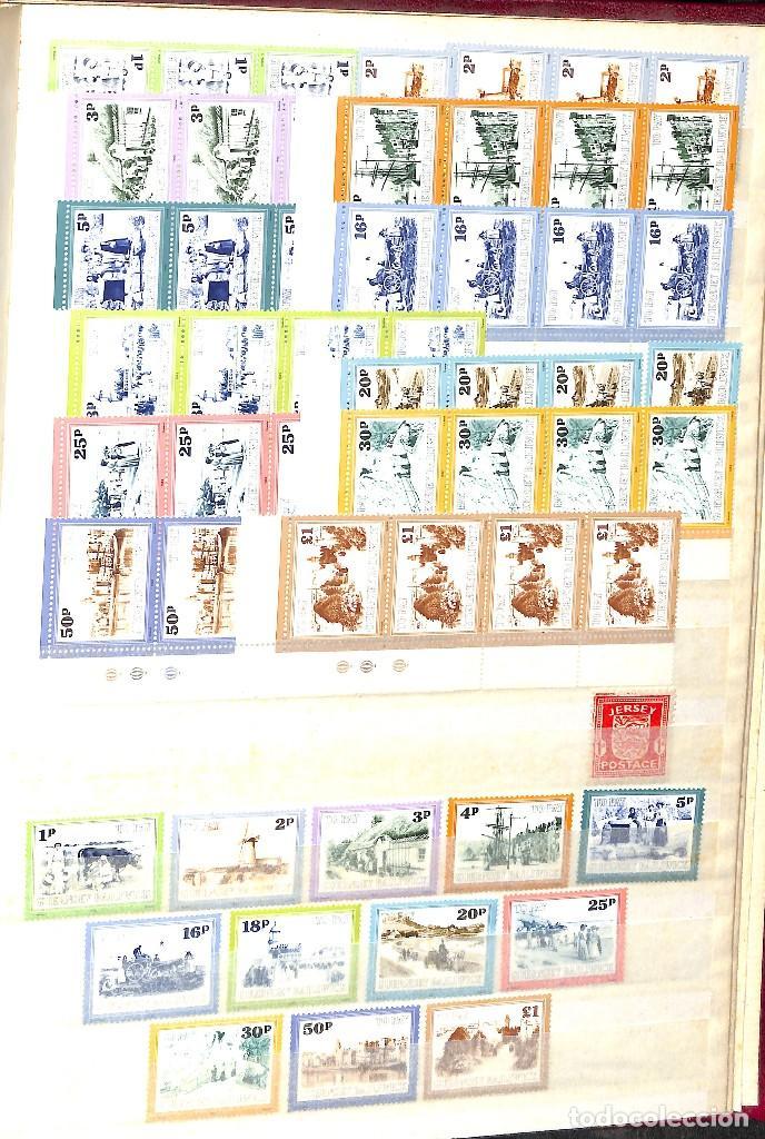 Sellos: GUERNESEY, 1969-2000 LOTE DE SELLOS Y HOJAS BLOQUE EN NUEVO Y USADO, - Foto 44 - 128746875
