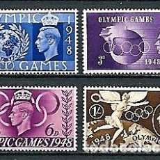Sellos: JUEGOS OLÍMPICOS DE LONDRES,1948,NUEVO,MNH**,YVERT 241-244. Lote 129570787