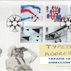 Sellos: GRAN BRETAÑA 2008 DISPOSITIVOS VOLADORES SET DE 6V FDC SG 2855-60 YV 3036-41. Lote 130451046