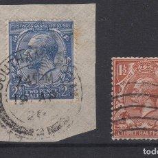 Sellos: 1912 GRAN BRETAÑA - GREAT BRITAIN - GEORGE V TWO PENCE HALF PENNY YT 144 + THREE HALF PENCE YT 141. Lote 132919834