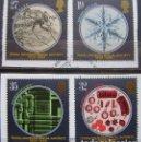 Sellos: INGLATERRA - IVERT 1396/99 - 150 ANIV. SOCIEDAD REAL DEL MICROSCOPIO - LOS DE LA FOTO. Lote 133656378