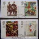 Sellos: INGLATERRA - IVERT 1674/77 - EUROPA CEPT - LOS DE LA FOTO. Lote 133707266