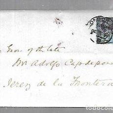 Sellos: INGLATERRA. CARTA DE LONDRES A JEREZ DE LA FRONTERA. 1897. VER SELLO. Lote 133803378