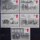 Sellos: INGLATERRA - IVERT 1135/39 - SIN GOMA - LOS DE LA FOTO. Lote 133870606