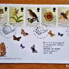 Sellos: SOBRE FRANQUEO SELLOS STAMP 1998 ENGLAND ENDANGERED SPECIES. Lote 134102810