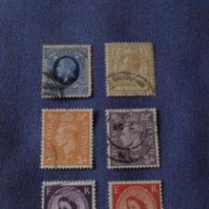 Sellos: CLÁSICOS INGLATERRA. JORGE V, JORGE VI, ISABEL II.. Lote 136123810