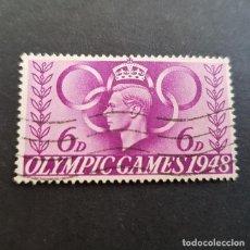 Timbres: GRAN BRETAÑA,INGLATERRA,1948,JUEGOS OLÍMPICOS,SCOTT 273,YVERT 243,USADO,(LOTE AG). Lote 137134702