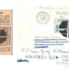 Sellos: SOBRE GIBRALTAR 1954. CON SELLO MANCHA NEGRA UTILIZADO POR LAS AUTORIDADES DE GIBRALTAR. Lote 137382248