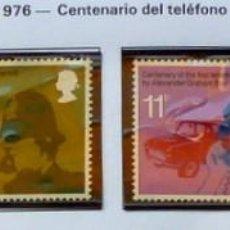 Sellos: GRAN BRETAÑA 1976 CENTENARIO TFNO, NUEVOS, COMPLETA. Lote 138781454