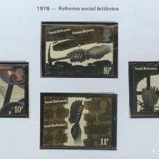 Sellos: GRAN BRETAÑA 1976 REFORMA SOCIAL- NUEVOS, COMPLETA. Lote 138781538
