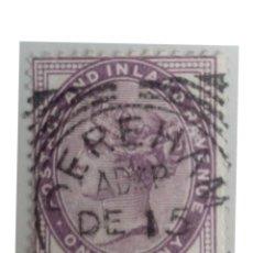 Sellos: GRAN BRETAÑA, QUEEN VICTORIA. 1 P., 1881.. Lote 139779802