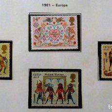 Sellos: GRAN BRETAÑA- 1981- EUROPA, NUEVO, COMPLETA. Lote 139994366