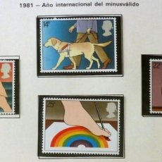 Sellos: GRAN BRETAÑA 1981 - AÑO MINUSVALIDO-COMPLETA-NUEVOS. Lote 139994522