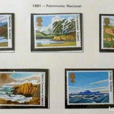 Sellos: GRAN BRETAÑA 1981 - PATRIMONIO NACIONAL-COMPLETA-NUEVOS. Lote 139994970