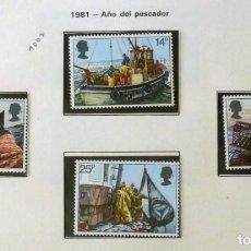 Sellos: GRAN BRETAÑA 1981 PESCA-COMPLETA-NUEVOS. Lote 139995418