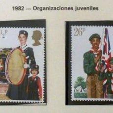 Sellos: GRAN BRETAÑA 1982 ORGANIZACIONES JUVENILES-COMPLETA-NUEVOS. Lote 139996042
