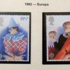 Sellos: GRAN BRETAÑA 1982 EUROPA -COMPLETA-NUEVOS. Lote 139996186