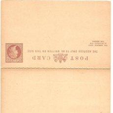 Sellos: ENTERO POSTAL DOBLE GRAN BRETAÑA - HALF PENNY - SIN CIRCULAR. Lote 140033622