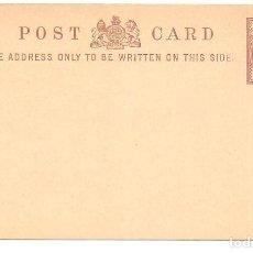 Sellos: ENTERO POSTAL GRAN BRETAÑA - POST CARD - HALF PENNY - SIN CIRCULAR. Lote 140309698