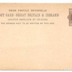 Sellos: ENTERO POSTAL GRAN BRETAÑA - UNIÓN POSTAL - ONE PENNY - SIN CIRCULAR - GREAT BRITAIN & IRELAND. Lote 140312822