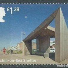 Sellos: GRAN BRETAÑA 2014 SEASIDE ARCHITECTURE: BEXHILL-ON-SEA SHELTER 1.28 £ SG 3637 YV 4049. Lote 140449922
