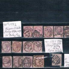 Sellos: GRAN BRETAÑA LOTE DE SELLOS DE 1881 VER IMAGENES. Lote 142811286