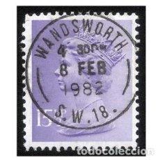 Sellos: GRAN BRETAÑA 1981. MI 864I, YT 968. MONARQUÍA. REINA ISABEL II. USADO1. Lote 143163814