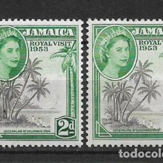 Sellos: JAMAICA 1953 - SC# 154 2P GREEN & GRAY BLACK MNH/MH - 1/27. Lote 143344054