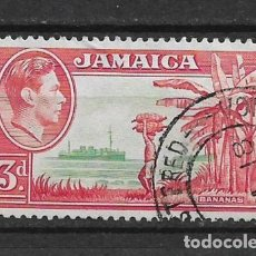 Sellos: JAMAICA 1952 - SC# 152 3P ROSE RED & GREEN - 1/27. Lote 143344138