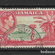 Sellos: JAMAICA 1952 - SC# 152 3P ROSE RED & GREEN - 1/27. Lote 143344182