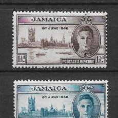 Sellos: JAMAICA 1946 - SC# 136/137 MH - 1/27. Lote 143344250