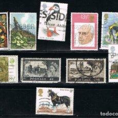 Timbres: GRAN BRETAÑA - LOTE DE 10 SELLOS - VARIOS (USADO) LOTE 86. Lote 143811294