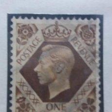 Sellos: SELLO INGLES, ONE SHILLING, POSTAGE, KING GEORGEVI. 1937. Lote 143828434