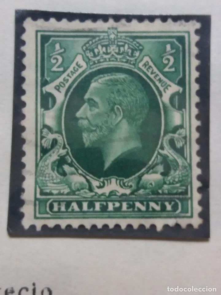 SELLO INGLES, HALF PENNY, POSTAGE, KING EDUARD VII. 1902 (Sellos - Extranjero - Europa - Gran Bretaña)