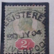 Sellos: SELLO INGLES, 2 D, POSTAGE, KING EDUARD. 1902. Lote 143833362