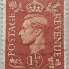 Sellos: GRAN BRETAÑA. 1937, JORGE VI. 1½ P. MARRÓN ROJIZO (Nº 211 YVERT). . Lote 144067942