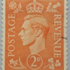 Sellos: GRAN BRETAÑA. 1937, JORGE VI. 2 P. NARANJA OSCURO (Nº 212 YVERT). . Lote 144068030