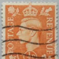 Sellos: GRAN BRETAÑA. 1951, JORGE VI. ½ P. NARANJA ROJO (Nº 251 YVERT).. Lote 144068734
