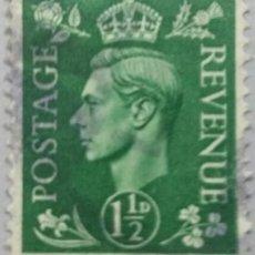 Sellos: GRAN BRETAÑA. 1951, JORGE VI. 1½ P. VERDE AMARILLENTO (Nº 253 YVERT).. Lote 144068850