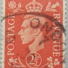 Sellos: GRAN BRETAÑA. 1951, JORGE VI. 2½ P. ROJO (Nº 255 YVERT).. Lote 144068986