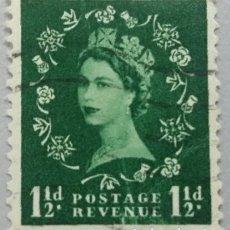 Sellos: GRAN BRETAÑA. 1952, ISABEL II. 1½ P. VERDE AMARILLENTO (Nº 264 YVERT).. Lote 144069614