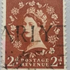 Sellos: GRAN BRETAÑA. 1952, ISABEL II. 2 P. MARRÓN ROJIZO (Nº 265 YVERT).. Lote 144069806