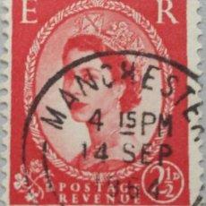 Sellos: GRAN BRETAÑA. 1952, ISABEL II. 2½ P. ROJO CARMÍN (Nº 266 YVERT).. Lote 144069946