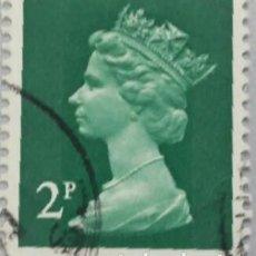 Sellos: GRAN BRETAÑA. 1971, ISABEL II. 2 P. VERDE OSCURO (Nº 608 YVERT).. Lote 144070378