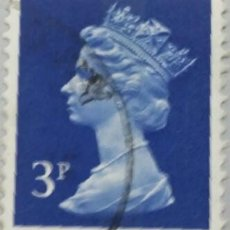 Sellos: GRAN BRETAÑA. 1971, ISABEL II. 3 P. AZUL MARINO (Nº 610 YVERT).. Lote 144070438