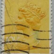 Sellos: GRAN BRETAÑA. 1976, ISABEL II. 10½ P. AMARILLO ANARANJADO (Nº 783 YVERT).. Lote 144070782